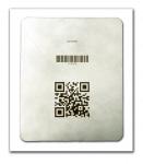 Fine Barcode on Tyvek Lid