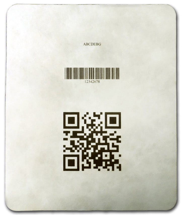 Fine Barcode on Tyvek Lid
