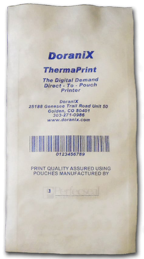 Blue Printing on Tyvek Pouch: Sample Tyvek Pouch
